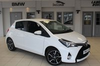 USED 2015 64 TOYOTA YARIS 1.3 VVT-I SPORT 5d 99 BHP FULL SERVICE HISTORY + £30 ROAD TAX + REVERSE CAMERA + BLUETOOTH + LOW MILEAGE + TOUCH SCREEN MONITOR + 16 INCH ALLOYS + PARKING SENSORS