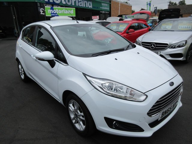 USED 2015 65 FORD FIESTA 1.0 ZETEC 5d 99 BHP ONE LADY OWNER FROM NEW....1.0 ECOBOOST TECHNOLOGY....£0 ROAD TAX....AMAZING ECONOMY