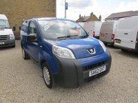 USED 2012 62 PEUGEOT BIPPER 1.3 HDI S 75 BHP VAN WITH SIDE LOAD DOOR DIRECT COUNCIL - ONLY 55,000m