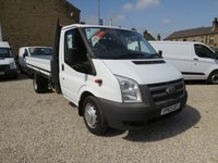 2013 FORD TRANSIT 125T 350 2.2TDCi MWB ONE-STOP 12' DROPSIDE WITH 6 SPEED GEARBOX £11495.00