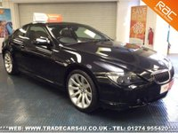 USED 2006 55 BMW 6 SERIES 650i 4.8 V8 SPORT COUPE AUTO UK DELIVERY* RAC APPROVED* FINANCE ARRANGED* PART EX