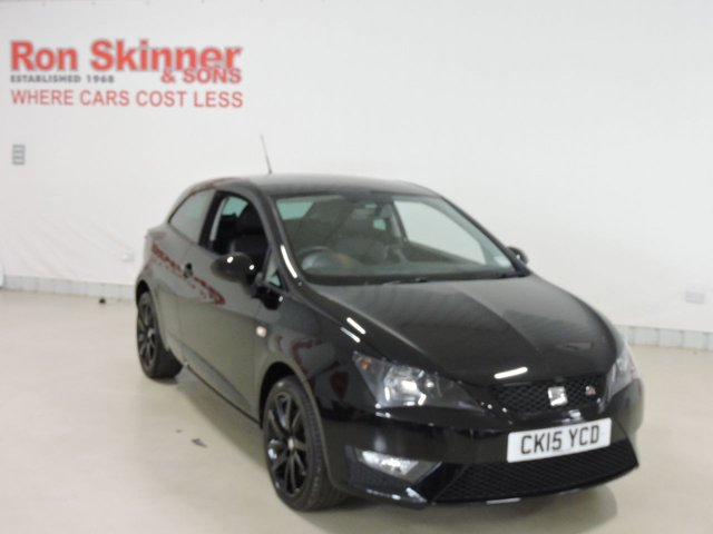 View our 2015 15 SEAT IBIZA 1.4 TSI ACT FR BLACK 3d 140 BHP