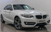 2016 BMW 2 SERIES 1.5 218I SPORT 2d 134 BHP £14490.00