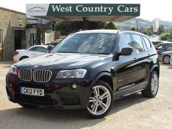 2012 BMW X3 3.0 XDRIVE30D M SPORT 5d AUTO 255 BHP £17000.00