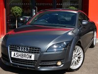 USED 2007 57 AUDI TT 2.0 TFSI 3d 200 BHP AUTO FULL SERVICE HISTORY, UPGRADE AUDI NAVIGATION PLUS, UPGRADE 19 IN MULTISPOKE TWO PIECE DESIGN ALLOYS, UPGRADE CRUISE, UPGRADE REAR ACOUSTIC PARKING SENSORS, UPGRADE IPOD DOCK, FULL BLACK LEATHER, ELECTRONIC CLIMATE CONTROL, LEATHER FLAT BOTTOM MULTI FUNCTION STEERING WHEEL W/ PADDLE SHIFT, ELECTRIC CLIMATE A/C, ELECTRIC WINDOWS, ELECTRICALLY ADJUSTABLE HEATED MIRRORS, SD READER X2, DIS TRIP COMPUTER W/ DIGI SPEED DISPLAY, ELECTRIC SPOILER, TIP-TRONIC MODE, FRONT FOGS.