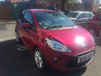 USED 2015 15 FORD KA 1.2 TITANIUM 3d 69 BHP EXCELLENT SPECIFICATION INCLUDING CLIMATE CONTROL, ALLOY WHEELS, MEDIA, AUXILLIARY INPUT AND USB! CHEAP TO RUN ,LOW CO2 EMISSIONS,£30 ROAD TAX, AND EXCELLENT FUEL ECONOMY. FULL FORD SERVICE HISTORY WITH 3523 MILES FROM NEW!