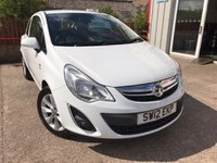 USED 2012 12 VAUXHALL CORSA 1.0 ACTIVE ECOFLEX 3d 64 BHP ONLY £30 PER YEAR ROAD TAX !!!