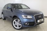 USED 2015 15 AUDI Q5 2.0 TDI QUATTRO S LINE PLUS 5DR AUTOMATIC 175 BHP SERVICE HISTORY + LEATHER SEATS + SAT NAVIGATION + BLUETOOTH + PARKING SENSOR + CRUISE CONTROL + MULTI FUNCTION WHEEL + CLIMATE CONTROL + 20 INCH ALLOY WHEELS