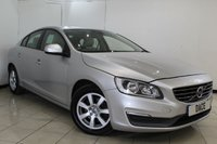 USED 2013 63 VOLVO S60 2.0 D4 BUSINESS EDITION 4DR 178 BHP SERVICE HISTORY + LEATHER SEATS + SAT NAVIGATION + PARKING SENSOR + BLUETOOTH + CRUISE CONTROL + MULTI FUNCTION WHEEL + CLIMATE CONTROL + 16 INCH ALLOY WHEELS