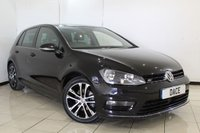 USED 2015 65 VOLKSWAGEN GOLF 2.0 R-LINE TDI BLUEMOTION TECHNOLOGY 5DR 148 BHP SERVICE HISTORY + SAT NAVIGATION + BLUETOOTH + CRUISE CONTROL + MULTI FUNCTION WHEEL + AIR CONDITIONING + 17 INCH ALLOY WHEELS