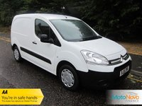 USED 2015 15 CITROEN BERLINGO 1.6 625 ENTERPRISE L1 HDI 1d 74 BHP Great Value Citroen Berlingo Enterprise Van with Air Conditioning, Sat Nav, ABS, Electric Windows, Electric Door Mirrors and Citroen Service History.
