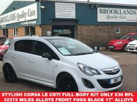 2014 VAUXHALL CORSA 1.2 LIMITED EDITION CDTI ECOFLEX White with Black Roof 5 Door 73 BHP £5995.00