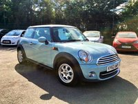 2012 MINI HATCH COOPER 1.6 3d HATCHBACK WITH FULL SERVICE HISTORY AND IN BEAUTIFUL CONDITION  £6500.00