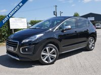 USED 2016 66 PEUGEOT 3008 1.6 BLUE HDI S/S ALLURE 5d AUTO 120 BHP FULL PANORAMIC ROOF PANEL, REVERSING CAMERA, PARKING SENSORS, 2 KEYS, ONE FORMER KEEPER