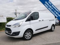 USED 2015 15 FORD TRANSIT CUSTOM 2.2 330 TREND LR P/V 1d 124 BHP FOLD DOWN ROOF BARS, PARKING SENSORS, HEATED FRONT SCREEN, ONE OWNER