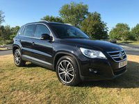 2008 VOLKSWAGEN TIGUAN 2.0 SPORT CR TDI BLACK FSH Recent timing belt 2 owners very clean car  £6995.00