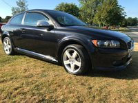 USED 2009 09 VOLVO C30 1.8 SPORT C30 R-DESIGN BLACK FSH LOW MILES VERY CLEAN CAR