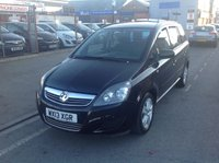 USED 2013 13 VAUXHALL ZAFIRA 1.7 EXCLUSIV CDTI ECOFLEX 5d 108 BHP 7 seater, diesel, family mpv. Superb economy, great value.