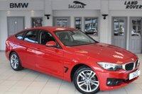 USED 2014 14 BMW 3 SERIES GRAN TURISMO 2.0 320D SPORT GT 5d AUTO 181 BHP FULL BLACK/RED LEATHER SEATS + SAT NAV + BLUETOOTH + CRUISE CONTROL + REAR PARKING SENSORS + DAB RADIO + 17 INCH ALLOYS + RAIN SENSORS