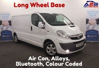 USED 2014 14 VAUXHALL VIVARO 2.0 2900 CDTI SPORTIVE 115 BHP  Long Wheel Base, Air Con, Colour Coded Bumper & Mirrors. Factory Fit Alarm *Over The Phone Low Rate Finance Available*   *UK Delivery Can Also Be Arranged*