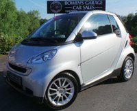 USED 2008 08 SMART FORTWO CABRIO 1.0 PASSION 2d AUTO 70 BHP Low Road Tax 2 Seater Convertible Auto