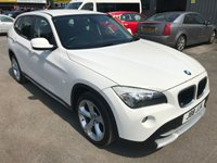 2010 BMW X1 2.0 SDRIVE18D SE 5 DOOR 141 BHP IN WHITE WITH BLACK LEATHER INTERIOR IN GREAT CONDITION £6999.00