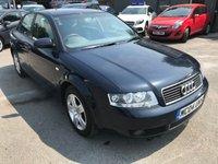 2004 AUDI A4 1.9 TDI SE 4d AUTO 129 BHP IN BLUE (TRADE CLAERANCE) SHORT MOT UNTIL 21/09/18 £450.00