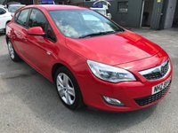 2011 VAUXHALL ASTRA 1.6 EXCLUSIV 5 DOOR AUTOMATIC 113 BHP IN BRIGHT RED WITH 91000 MILES WITH A GOOD SERVICE HISTORY.  £3799.00