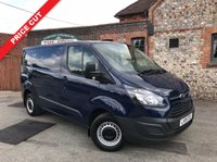USED 2015 15 FORD TRANSIT CUSTOM 2.2 270 LR P/V 1d 100 BHP Only 34,000 Miles, Bluetooth Connection, Finance In 60 Seconds.
