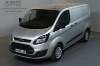 USED 2015 65 FORD TRANSIT CUSTOM 2.2 290 ECONETIC L1 H1 SWB LOW ROOF AIR CON FRONT-REAR PARKING SENSORS ECO START STOP AIR CONDITION, FRONT-REAR PARKING SENSORS