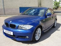 USED 2009 J BMW 1 SERIES 2.0 120D M SPORT 2d AUTO 175 BHP PARKING SENSORS +  HALF LEATHER TRIM +  MOT JUNE 2019 +  CRUISE CONTROL +  TRACTION CONTROL