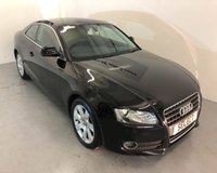 """USED 2008 58 AUDI A5 2.0 TFSI 3d 178 BHP LOW MILEAGE with ONLY 50,000 miles and Full Service History from new -black leather,17""""alloys,cruise control,heated seats,Rear Park Sensors,Auto Climate Control-lovely LOW LOW Mileage"""