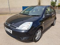 USED 2006 55 FORD FIESTA 1.6 GHIA 5d 89 BHP LEATHER TRIM +   SERVICE RECORD +  MOT March 2019 +  ALLOY WHEELS +  AIR CONDITIONING +