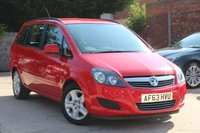 USED 2013 63 VAUXHALL ZAFIRA 1.6 EXCLUSIV 5d 113 BHP **** GREAT VALUE 7 SEATER ****