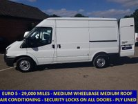 2013 FORD TRANSIT 100 280 MWB MEDIUM ROOF WITH 29,000 MILES & AIR CON £8295.00