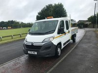 USED 2016 16 CITROEN RELAY 2.2 35 L3 HDI  129 BHP 7 SEAT DOUBLE CAB TIPPER