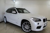 USED 2013 63 BMW X1 2.0 XDRIVE20D M SPORT 5DR 181 BHP HEATED LEATHER SEATS + BLUETOOTH + CRUISE CONTROL + CLIMATE CONTROL + MULTI FUNCTION WHEEL + PARKING SENSOR + 19 INCH ALLOY WHEELS