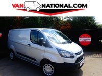 2015 FORD TRANSIT CUSTOM 2.2 290 ECONETIC LR P/V 100 BHP (AIR CONDITIONING ONE OWNER) £11749.00