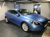 USED 2014 64 VOLVO V40 2.0 D4 SE LUX NAV 5d AUTO 187 BHP Only £20 a year road tax : Bluetooth    :    Satellite Navigation    :    DAB Radio   :   Wi-Fi   :   Full leather upholstery   :  Fully stamped Volvo service history