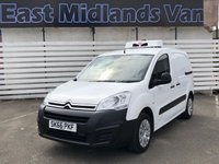 2016 CITROEN BERLINGO 1.6 625 LX L1 HDI 1d 74 BHP Fridge Van £9950.00