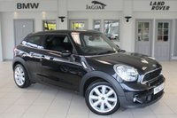USED 2014 63 MINI PACEMAN 1.6 COOPER S 3d 184 BHP FULL MINI SERVICE HISTORY + CARBON BLACK LEATHER SEATS + SAT NAV + CHILI PACK2 + BLUETOOTH + HEATED FRONT SEATS + XENON HEADLIGHTS + DAB RADIO + 16 INCH ALLOYS + REAR PARKING SENSORS
