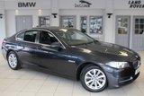 USED 2015 64 BMW 5 SERIES 2.0 520D SE 4d AUTO 188 BHP FULL BLACK LEATHER SEATS + SAT NAV + BLUETOOTH + £20 ROAD TAX + HEATED FRONT SEATS + DAB RADIO + PARKING SENSORS + 17 INCH ALLOYS