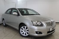 USED 2007 57 TOYOTA AVENSIS 1.8 TR VVT-I 5DR AUTOMATIC 128 BHP SAT NAVIGATION + PARKING SENSOR + MULTI FUNCTION WHEEL + CLIMATE CONTROL + RADIO/CD + 16 INCH ALLOY WHEELS