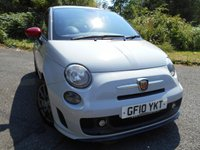 USED 2010 10 ABARTH 500 1.4 ABARTH 3d 135 BHP ** RED LEATHER , ONLY 44K , FANTASTIC CAR **