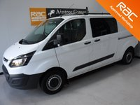 USED 2016 16 FORD TRANSIT CUSTOM 2.2 290 LR DCB 1d 124 BHP UPGRADED ALLOY WHEELS, at an additional l cost EXCELLENT VALUE FOR MONEY IN THIS CONDITION AND WITH THIS SPEC AND SERVICE HISTORY, THIS CAR HAS BEEN VERY WELL LOOKED AFTER AND MAINTAINED WITH NO EXPENSE SPARED, COMES WITH FULL FORD MAIN DEALER SERVICE HISTORY,