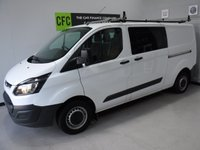 USED 2016 16 FORD TRANSIT CUSTOM 2.2 290 LR DCB 1d 124 BHP ONE OWNER FROM NEW FSH