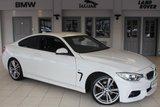 USED 2014 64 BMW 4 SERIES 2.0 420D M SPORT 2d AUTO 181 BHP FULL BLACK LEATHER SEATS + PROFESSIONAL SAT NAV + REVERSE CAMERA + BLUETOOTH + HEATED FRONT SEATS + XENON HEADLIGHTS + 18 INCH ALLOYS + DAB RADIO + ADAPTIVE CRUISE CONTROL