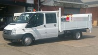 2010 FORD TRANSIT 350 LWB CREW CAB DROPSIDE 6 SEATER WITH TAIL LIFT X MOD 1 OWNER F/S/H VERY LOW MILES 2 KEYS // £9290.00