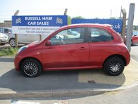 "USED 2008 58 NISSAN MICRA 1.2 ACENTA 3d AUTO 80 BHP New MOT & Full Service Done on purchase . Also Included """" 2 YEARS FREE MOT & FULL SERVICE """" 3 Months Russell Ham Quality Warranty . All Car's Are HPI Clear . Finance Arranged - Credit Card's Accepted . for more cars www.russellham.co.uk  - Spare Key-Book Pack."