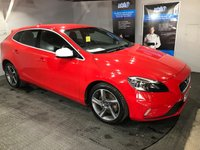 USED 2014 64 VOLVO V40 2.0 D4 R-DESIGN 5d 187 BHP ZERO Road tax : Bluetooth  :  DAB Radio : R-Design Steering wheel and contrasting leather upholstery     :     Heated front seats   :   Heated front screen   :   Rear parking sensors   :   Full Volvo main dealer service history